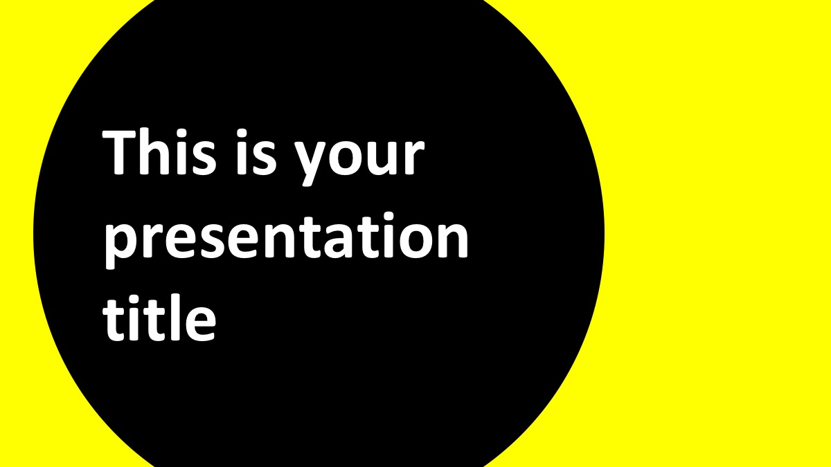 Шаблон презентации с темным фоном