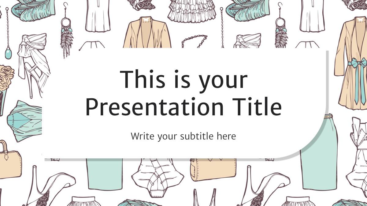 презентация для компаний, занимающихся одеждой