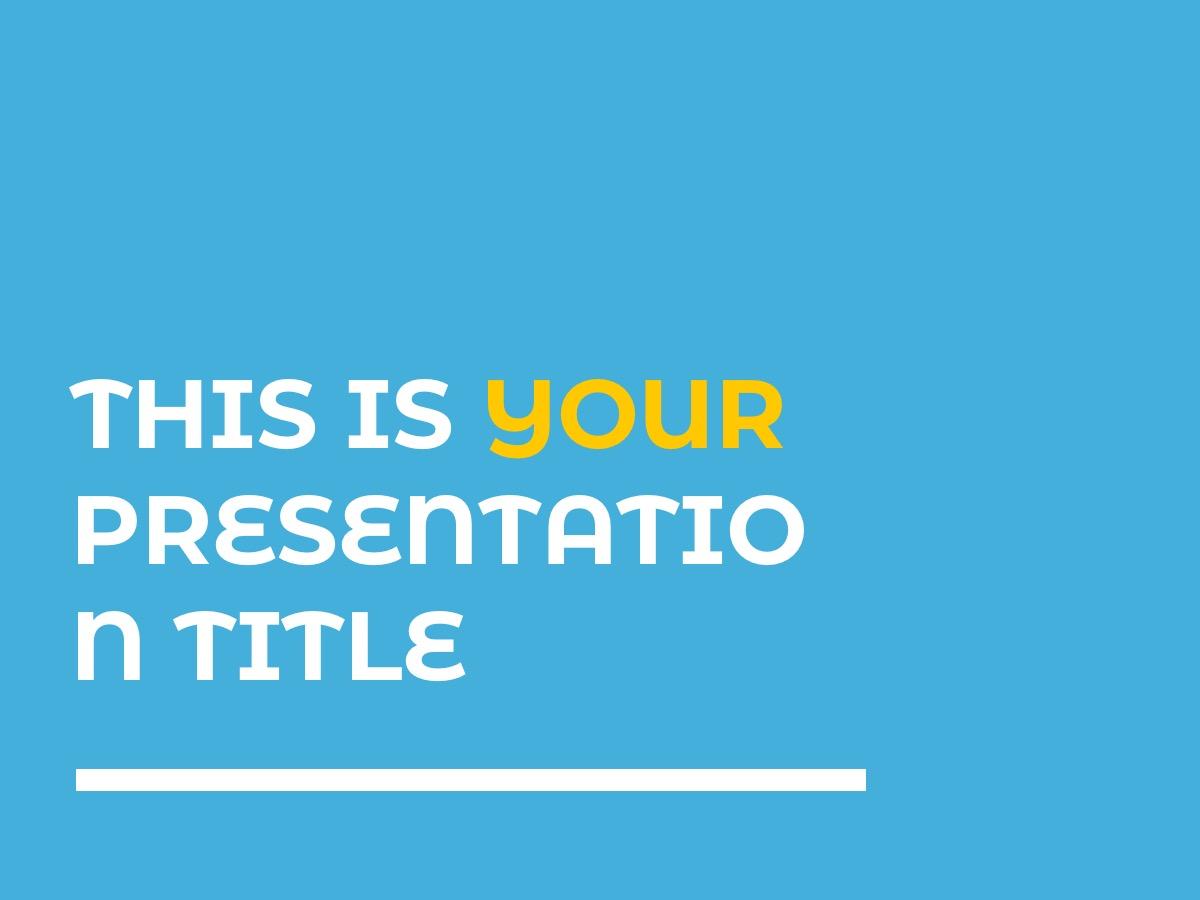 стильная светлая тема презентации
