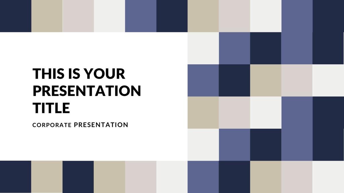 Простой шаблон для презентации компании
